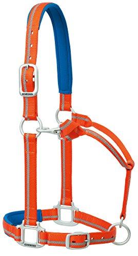 Weaver Leather Nylon Padded Reflective Adjustable Horse Halter, Average, ()