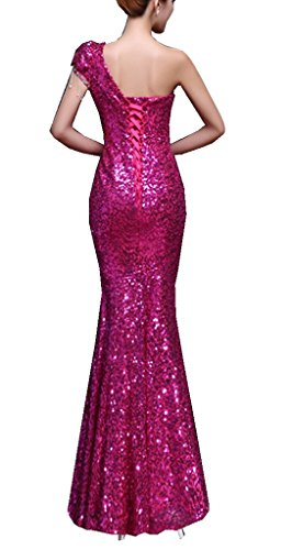 Ball One Shoulder Lang Mei Damen Mermaid Kleider Red emmani 5RBqXwaW