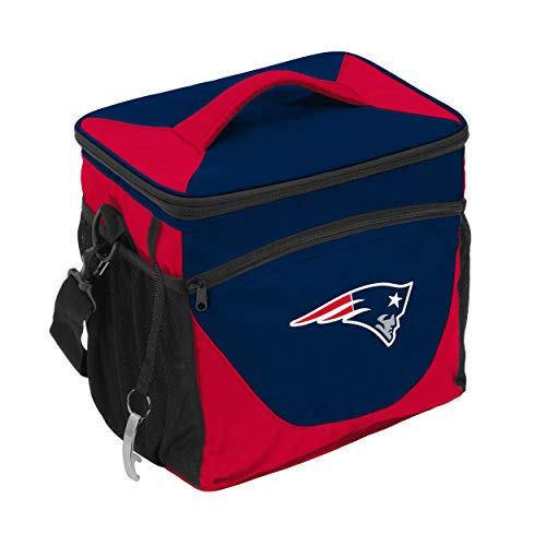 Logo Brands NFL New England Patriots 24 Can Cooler, One Size, Navy
