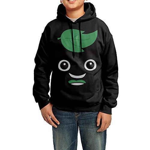Boys Girls Kids Guava Juice Hoodie Black Cotton Hoodie Medium (Minecraft Kids Hoodie)