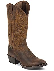 Justin Boots Mens Stampede 2561 13-Inch Rugged Tan 10 EE