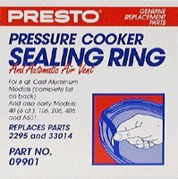 - Presto 09901 Pressure Cooker Sealing Ring and Automatic Air Vent