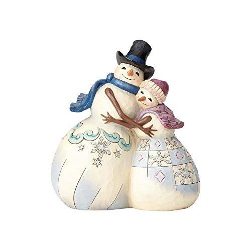 Enesco Jim Shore Heartwood Creek Snowman Couple (Hugging Snowman)