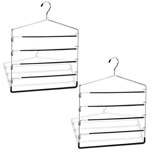 Organize It All (2 Pack) 5-Tier Swing Arm Slack Rack (1302W-6)