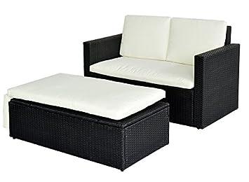 Rattan gartenmöbel sofa  Amazon.de: POLY RATTAN Lounge Gartenset Sofa Garnitur Polyrattan ...