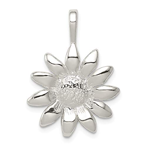 (925 Sterling Silver Sunflower Pendant Charm Necklace Flower Gardening Fine Jewelry Gifts For Women For Her)