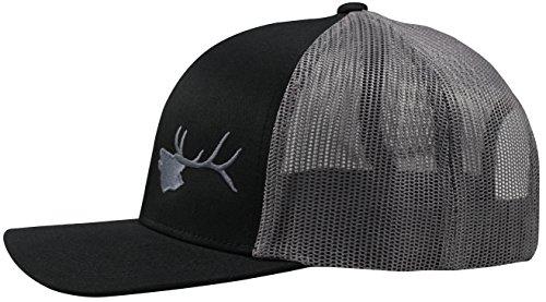 Review Lindo Trucker Hat – Bugling Elk (Black/Graphite)