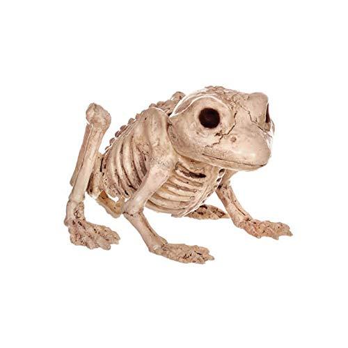 LCMJ WS Vintage Halloween Decoration Scary Frog Skeleton Spoof Interesting -