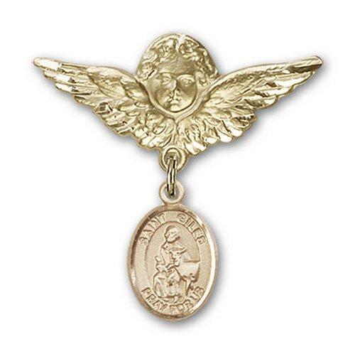 Icecarats Or Bijoux De Créateurs Rempli R. Giles Charme Ange Broche De Badge 1 1/8 X 1 1/8