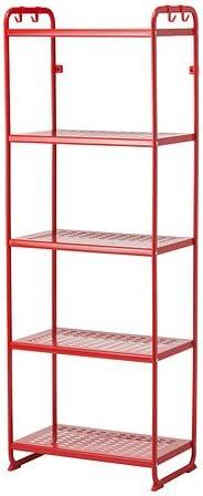Ikea MULIG - Estantería, Rojo: Amazon.es: Hogar