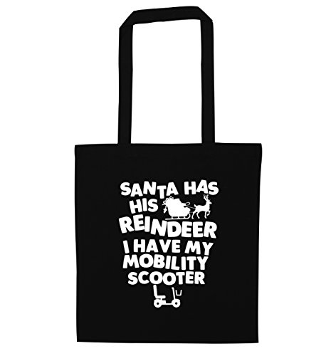 bag I reindeer Creative have tote Flox Black my Santa scooter has his mobility EtEz4