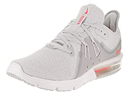 Nike Women's Air Max Sequent 3 Running Shoe Pure Platinumracer Pink-wolf Grey 8.5