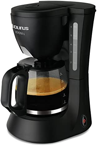 Taurus Cafetera Goteo Verona 6 6 Tazas, 600 W, 6 Cups, plástico, Negro: Taurus: Amazon.es: Hogar