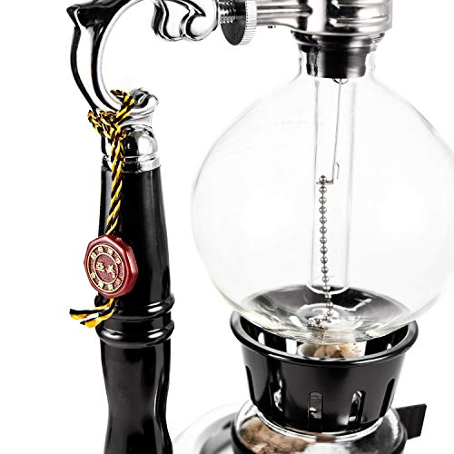 YAMA Glass 5 Cup Tabletop Siphon Gravity Coffee Maker with Alcohol Burner by Yama Glass (Image #5)