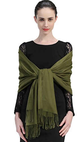 (Premium Women Extreme Soft Scarf Wrap Shawl For Autumn Winter and Spring (Grass))