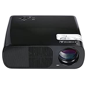 FastFox LED Video Projector 2600 Lumen 800x480 HD Home Theater for PC Laptop Smartphone USB SD Keystone Black Color from FastFox