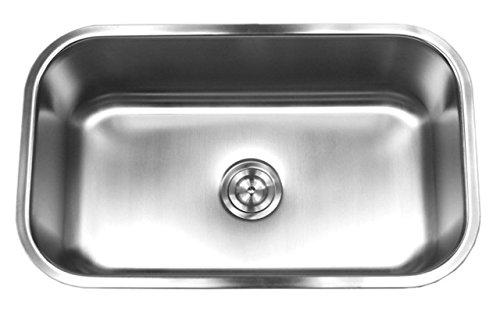 (Contempo Living 18-960 30 inch 18 Gauge Stainless Steel Undermount Single Bowl Kitchen Sink 10 inch Deep,)