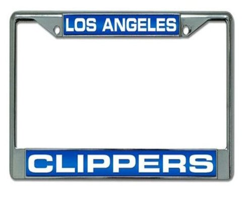 Rico Industries NBA Los Angeles Clippers Laser Cut Inlaid Standard Chrome License Plate Frame