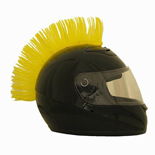 Motorcycle Ski Bicycle Helmet Mohawk Red Green Blue Black Helmet Hair (Yellow)