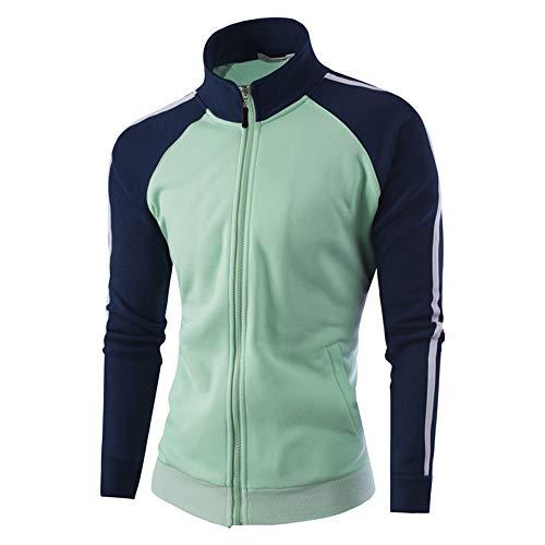 Faionny Mens Warm Jacket Stand Collar Jumper Solid Thick Coat Slim Zipper Jacket Coat Cardigan Winter Outwear by Faionny