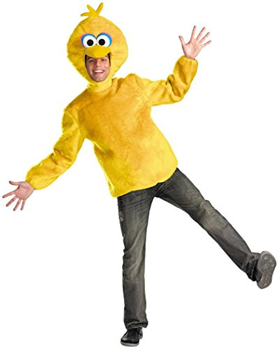 Disguise Unisex Adult Male Big Bird, Yellow, X-Large (42-46) (The Birds Costume Male)