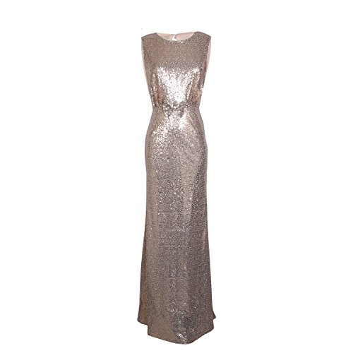 - HUAFONG Women Sleeveless Bodycon Sexy Sheath Sequined Party Club Dress (Medium, Gold)