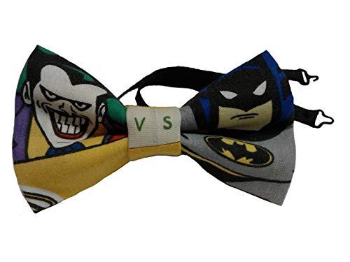 Joker vs Batman Bow Tie, Adjustable to 18 Inches -