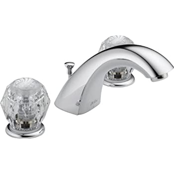 Image of Home Improvements Delta 3544LF-WFMPU Classic Two Handle Widespread Bathroom Faucet, Chrome