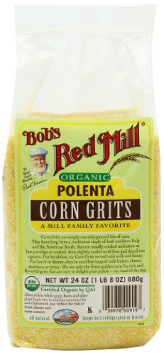 Bob's Red Mill Organic Corn Grits / Polenta, 24 Ounce (Pack of 4)