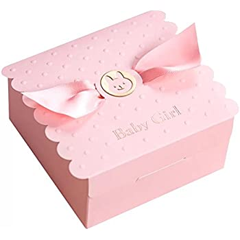 a72c64e8bc3f Floratek 30 PCS Baby Shower Favors Cute Baby Girl Angel Wings Designed  Chocolate Packaging Box Candy