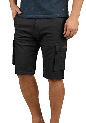 Black Shorts 9000 solid Laurus Homme Cargo qpnTn4wI