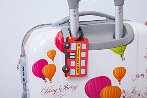 7 Couleurs Etiquette de Baggage,Bagages /Étiquettes /Étiquette de Bagage en Silicone avec Carte Didentit/é Nominative /Étiquettes en Silicone Color/ées pour Eviter Les Pertes