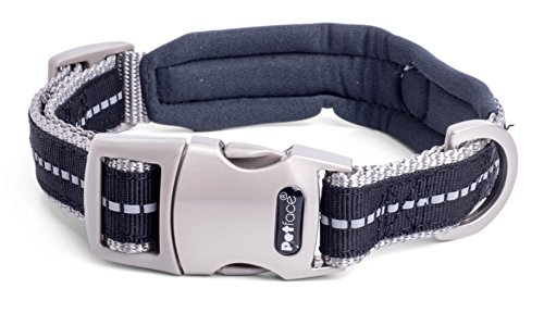 Petface Signature | Padded Dog Collars, Dog Leashes & Dog Harnesses | Soft Neoprene Padding | Reflective Strip, Improved Night Visibility | Various Sizes, Small, Black