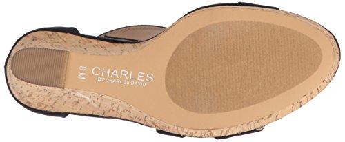 Charles by Charles David Frauen Leanna Offener Zeh Leger Platform Sandalen Blue Microsuede