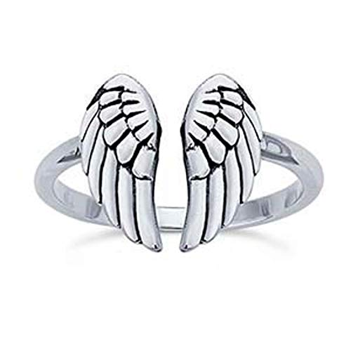 angel wings ring adjustable size