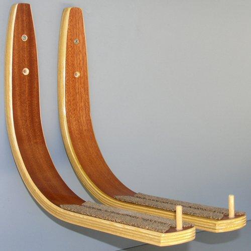 Paddle Board Rack - Mahogany by Hawaiian Gun Rack