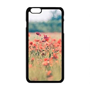 Personalized Creative Cell Phone Case For iPhone 6 Plus,glam flowers field