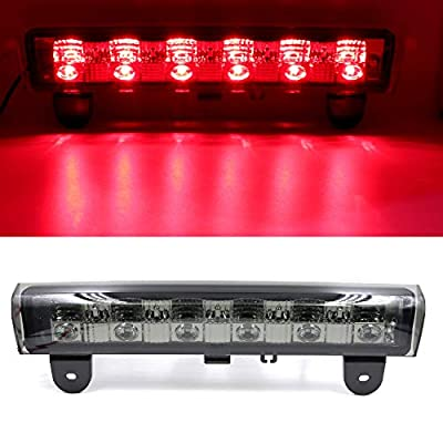Full LED Third 3rd Brake Cargo Light Center High Mount Stop Light Replace fit for 2000-2006 Chevy Suburban Tahoe (Smoke): Automotive