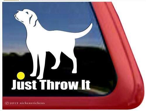 Throw Labrador Retriever Window Sticker