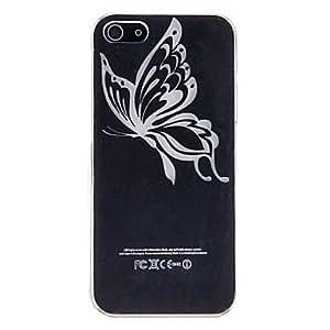 Butterfly Patten LED Sense Flash Light Hard Case for iPhone 5/5S