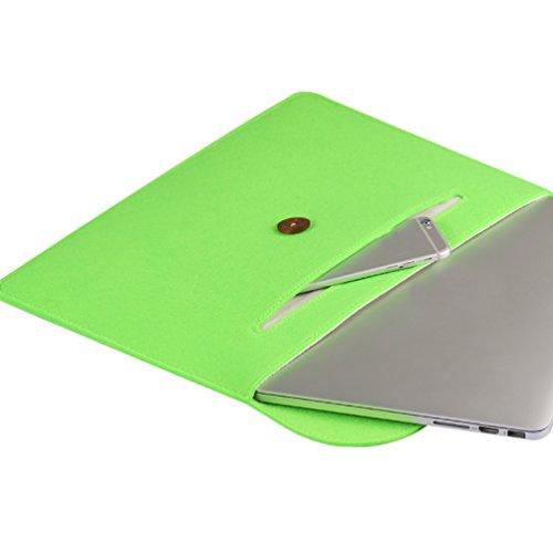 YiJee Funda Blanda para Ordenador con Bolsa Sleeve para Portatiles 13.3 Pulgada Verde 1
