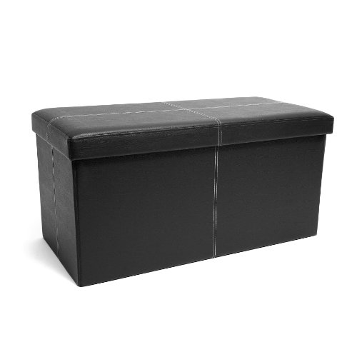 FHE Group Folding Storage Ottoman Bench, 30 by 15 by 15 Inches, Black from Fresh Home Elements