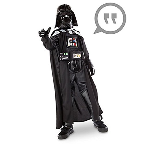 [Disney Kids Star Wars Darth Vader Cosplay Costume with Sound, 13] (Codpiece Costumes)