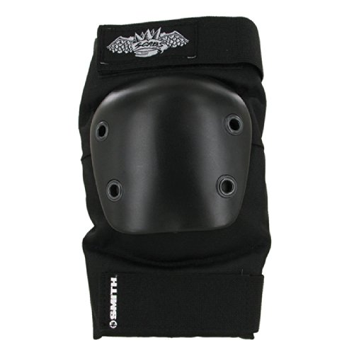 Smith Safety Gear Crown Park Elbow Pads, Black/Black, Large