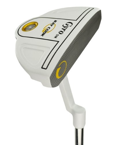 Ray Cook Golf Gyro Semi Mallet SM White Putter, 35, Right (Semi Mallet Putter)