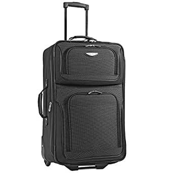 Travel Select Amsterdam Expandable Rolling Upright Luggage Bag - Gray (25-Inch)