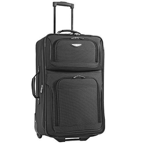 (Travelers Choice Travel Select Amsterdam 25-Inch Expandable Rolling Upright, Gray)