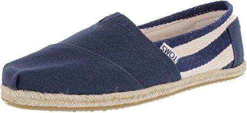Toms Women's University Classic Stripe Shoe (7 B(M) US, Navy Stripe)