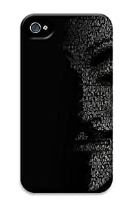 iPhone 4 4S Case Anonymous Black 3D Custom iPhone 4 4S Case Cover