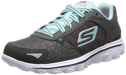 Skechers Kids 81054L Go Walk 2 Flash Athletic Sneaker (Little Kid/Big Kid),Charcoal/Blue,11 M US Little Kid